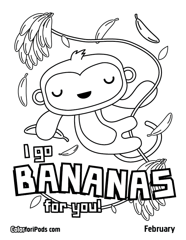 February Color for iPods Coloring Pages
