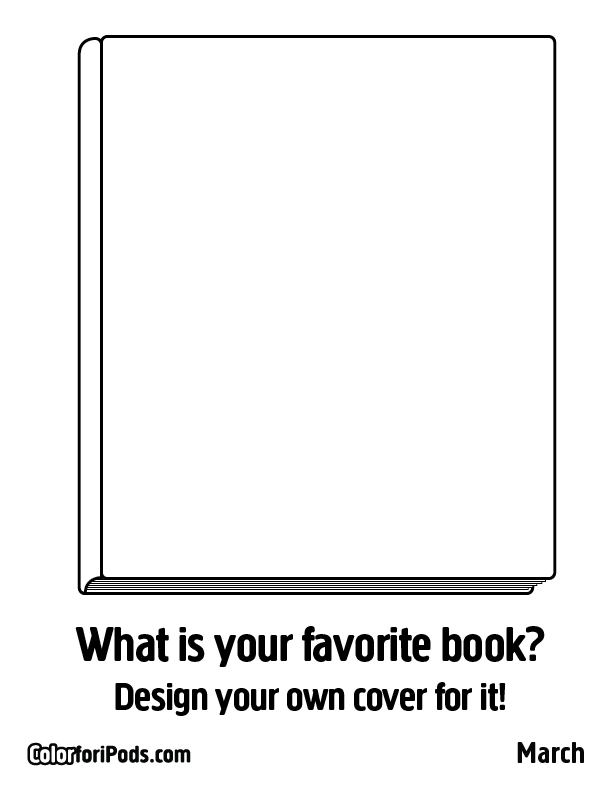 Cookbook Cover Coloring Page : March color for ipods coloring pages