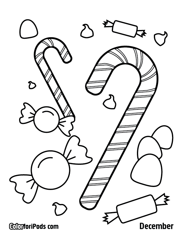 december color for ipods coloring pages