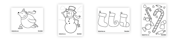 December's Coloring Pages